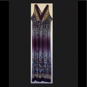 Multi Colored Maxi Dress Women's size Large